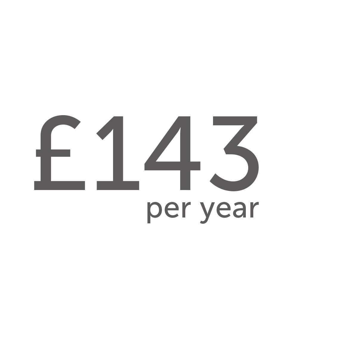 £143 per year