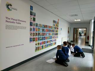 stirling high school unveils mural of our visual elements periodic table - Periodic Table Of Elements Rsc