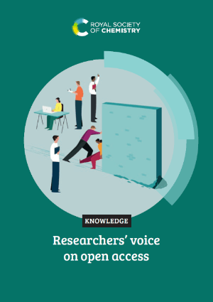Researchers' voice on open access cover