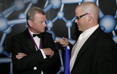Dr Simon Campbell with chef Heston Blumenthal