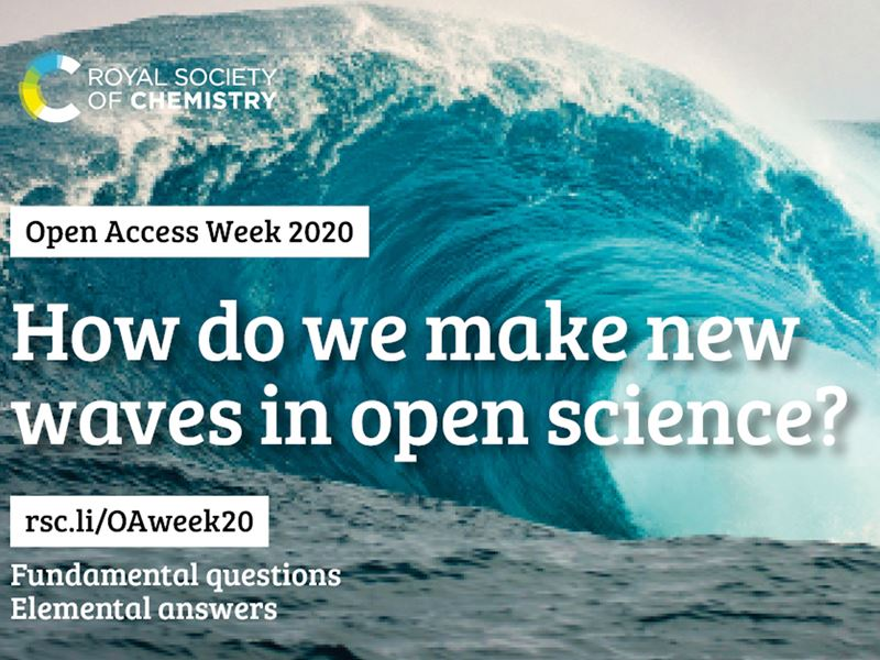 "A blue wave with the title ""How do we make new waves in open science?"""