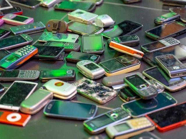 Variety of old phones