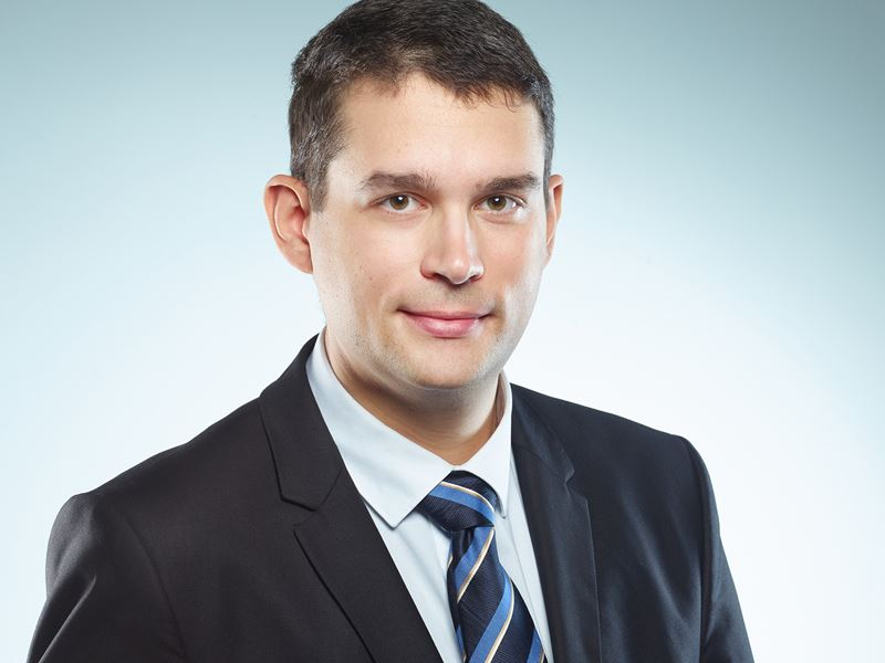 Professor Volker Presser is pictured wearing a dark suit
