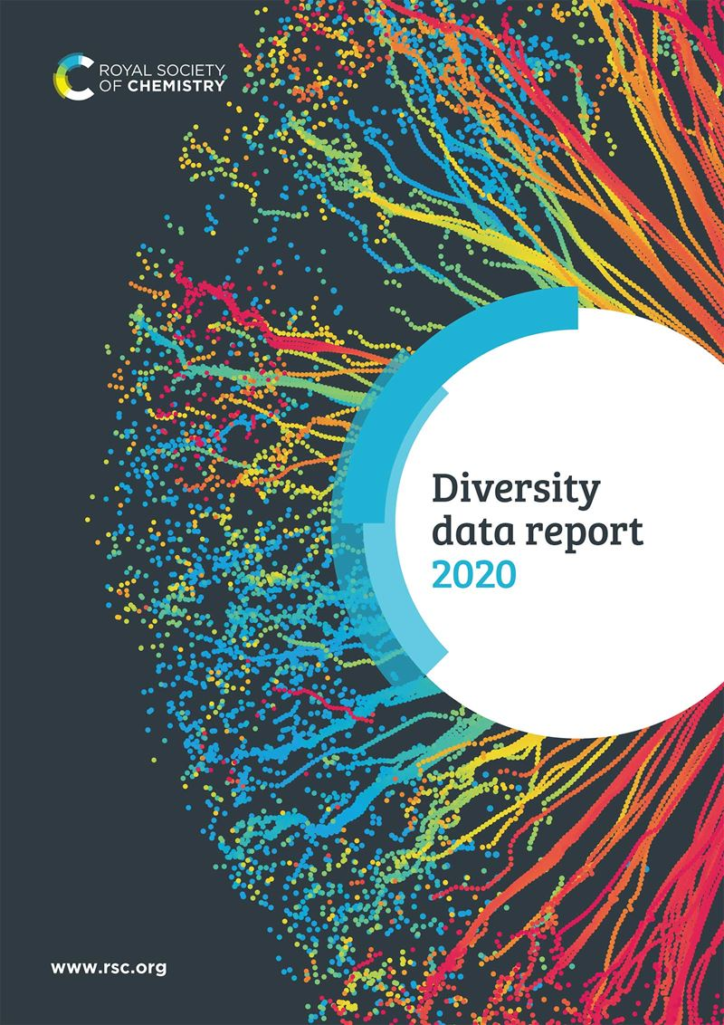 The front cover of the RSC's 2020 Diversity Data Report is pictured