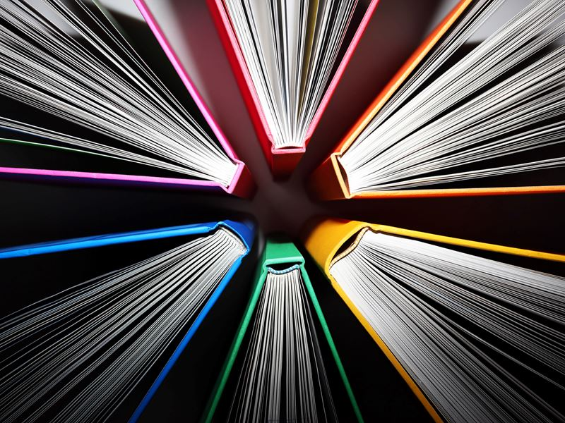 Multicoloured books