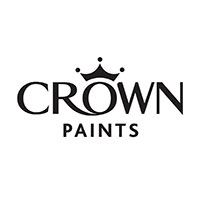 Crown Paints logo with tag line Trust is earned