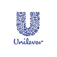 Unilever logo, the letter U made up of a flowery pattern